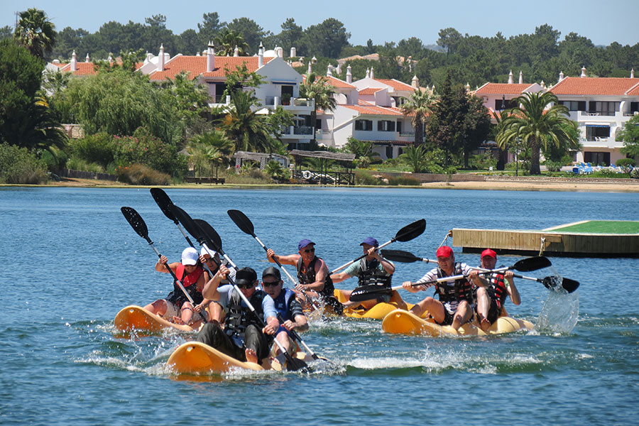 kayak race group events artur watersports academy